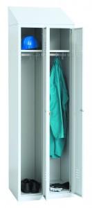 Stahl-Kleiderspind, 2 Abteile, abschließbar